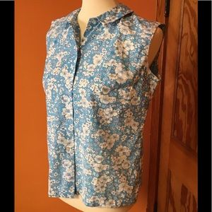 Vintage 50s rare large size feminine flowers shirt